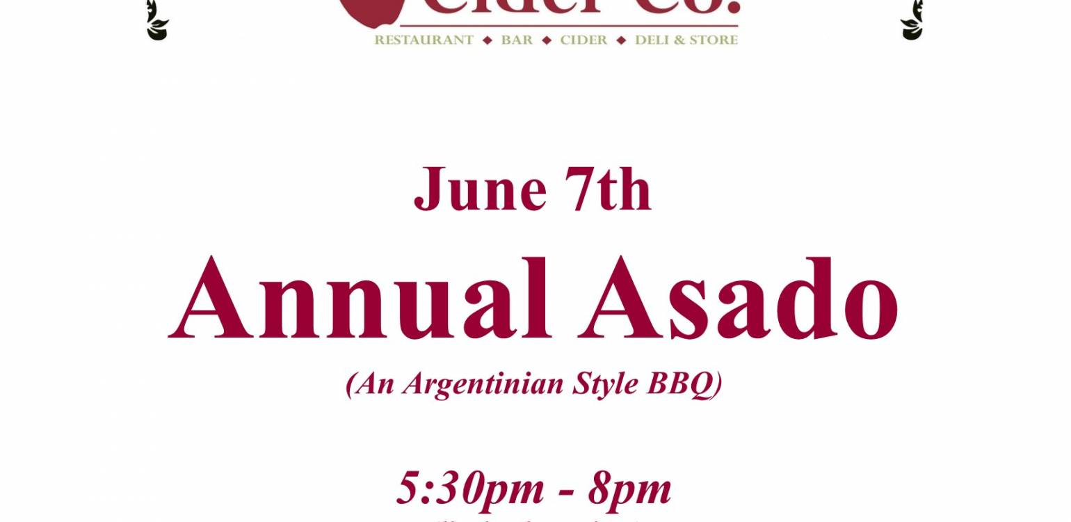 Annual Asado June 7th (An Argentinian Style BBQ)